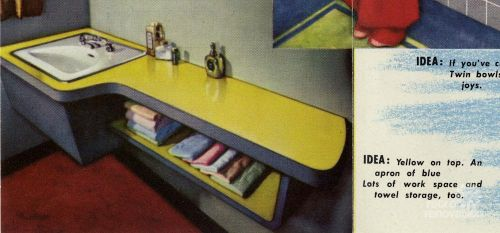 10 Bathroom Vanity Designs From Formica Quot Vanitory Quot Ideas From 1951 Retro Renovation