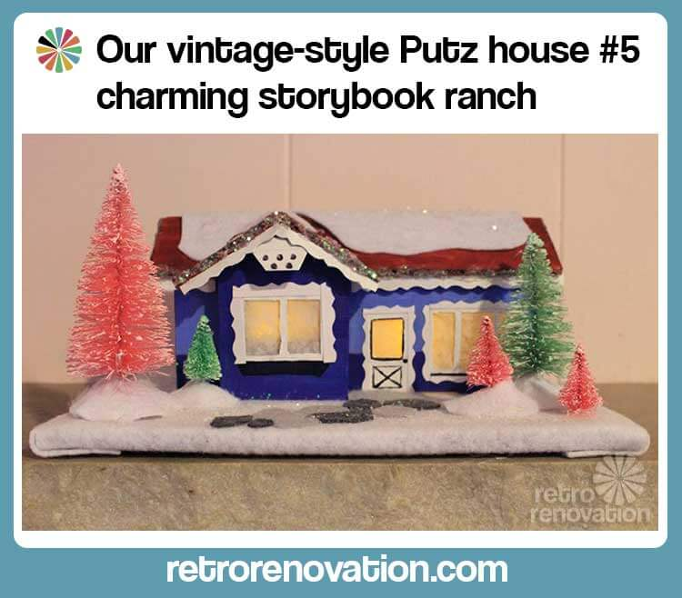 DIY Putz House 5 Storybook Ranch Free