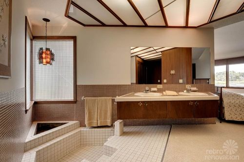 sunken tub bathroom