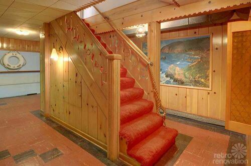 vintage-knotty-pine-basement
