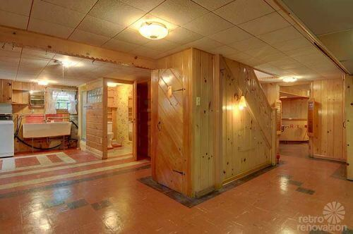 vintage-knotty-pine-basement-rec-room