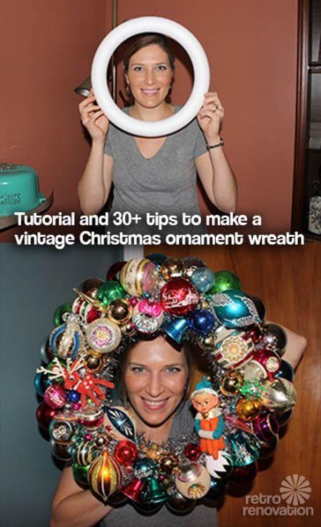 shiny bright ornament wreath