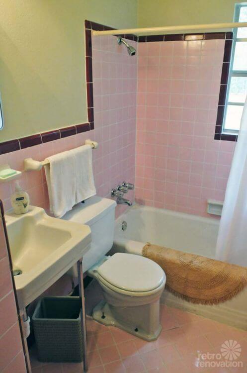 vintage-pink-and-white-tile-bathroom