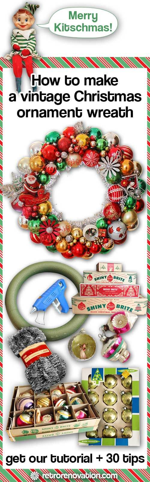 How to make vintage ornament wreath