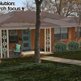 Retro ranch house exterior