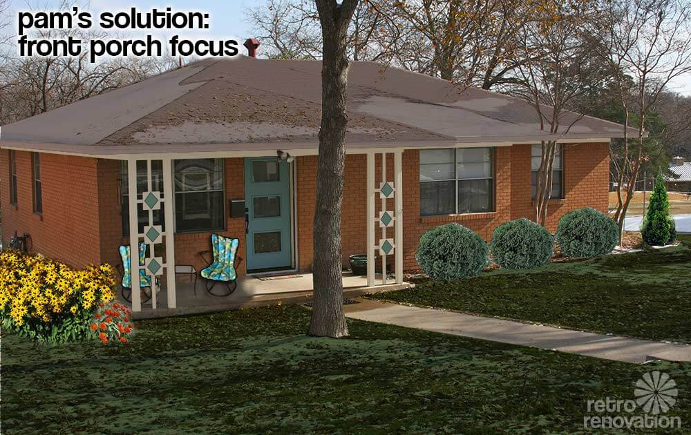 Retro Ranch House Exterior Pam S Solution Front Porch Focus