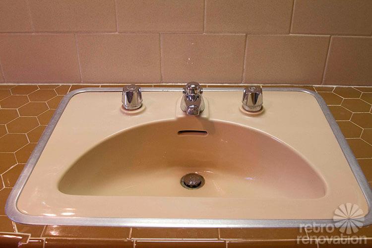 beautiful mid century bathroom sink