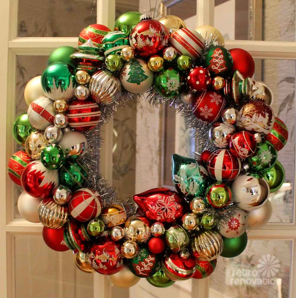 Ornament ball wreath images Christmas wreaths to make