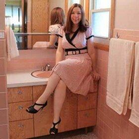 pink bathroom renovation
