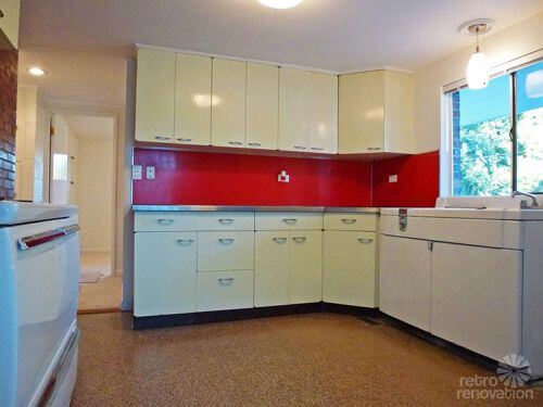 breathtaking mid century modern kitchen design. retro steel kitchen 1955 mid century modern house time capsule  just 1 300 s f but