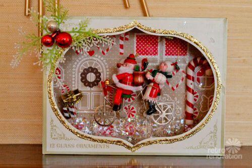 vintage christmas diorama