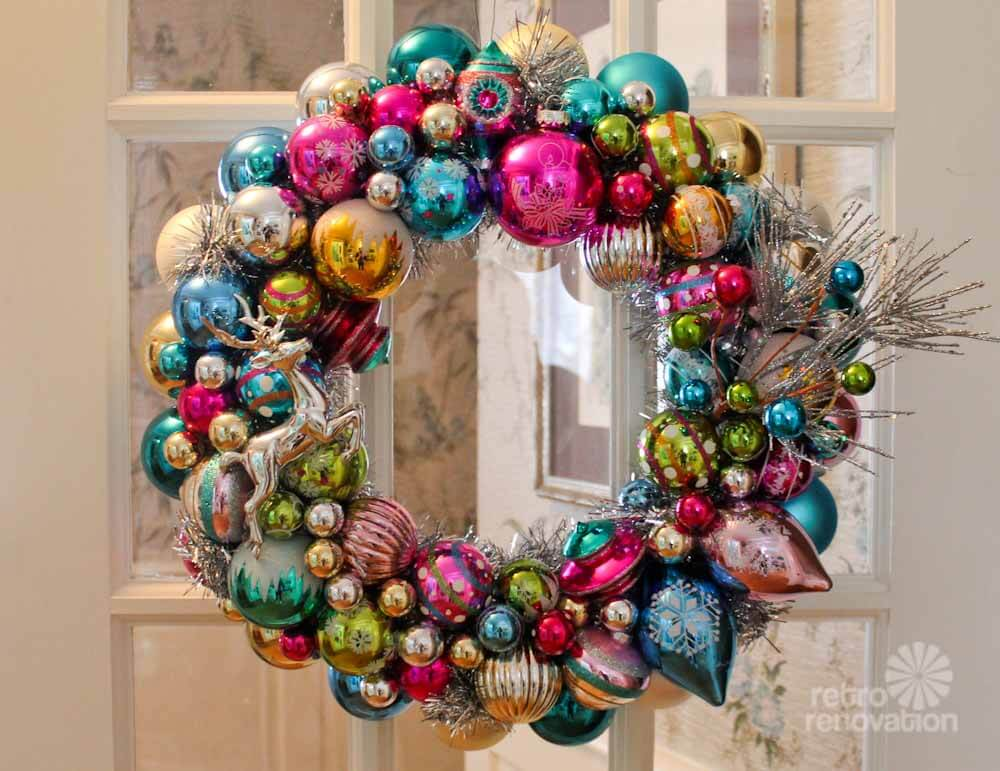 ornament wreaths made from new christmas ornaments i shop target big lots michaels and k mart and make two wreaths