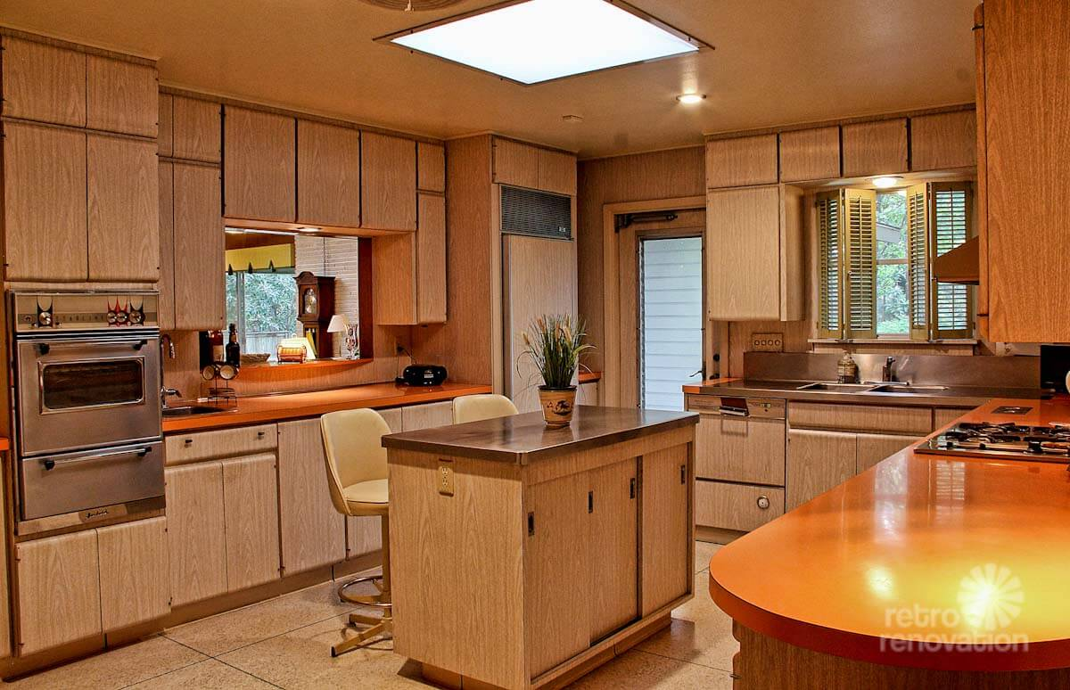 Impeccable 1972 time capsule house in san antonio 33 for Bleached wood kitchen cabinets