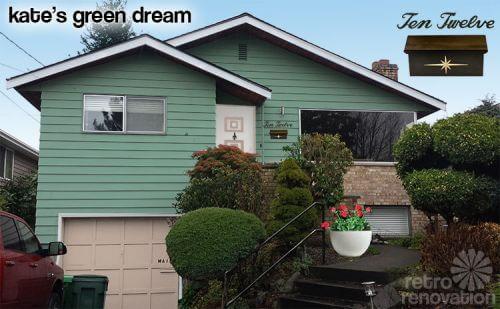 mid century house exterior