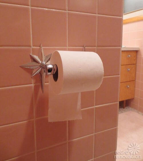 retro starburst toilet paper holder