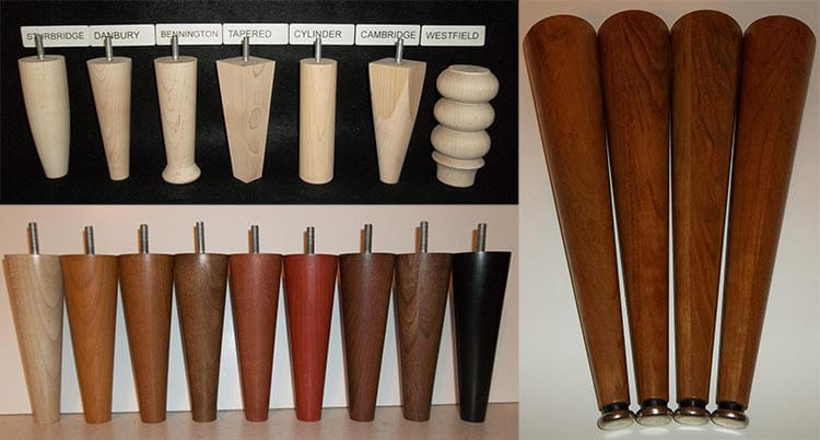 Custom Order Mid Century Wood Furniture Legs