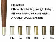 furniture leg-tip-finishes