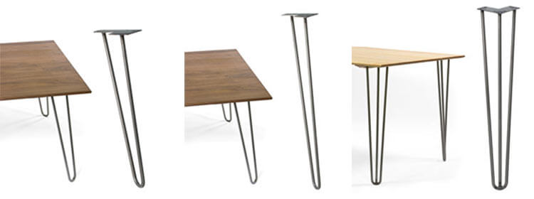 12 places to buy metal hairpin table legs raw steel for Cheap hairpin legs