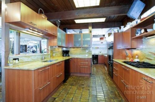 mid-century-modern-kitchen-tiled-floor
