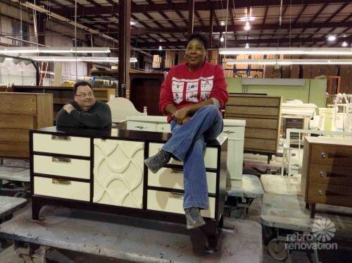 Pat Holbrook and Deborah Fitzgerald of Stanley Furniture