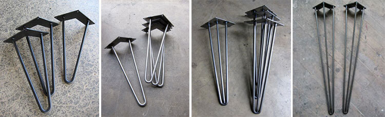 12 places to buy metal hairpin table legs - raw steel, stainless steel, rebar, powder coated ...