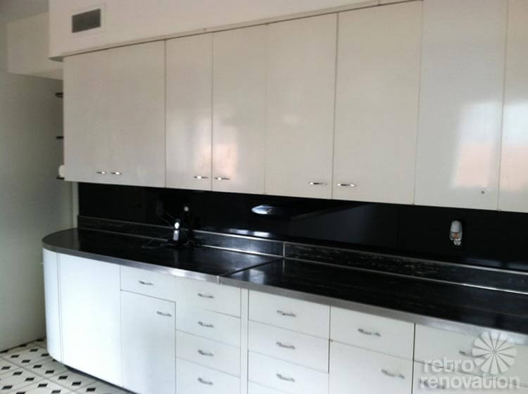 Robert and caroline 39 s mid century home with dreamy st Metal kitchen cabinets