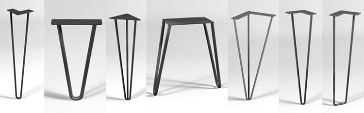Furniture Legs Black 12 places to buy metal hairpin table legs - raw steel, stainless