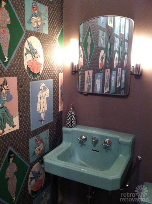Amazing vintage green bathroom sink