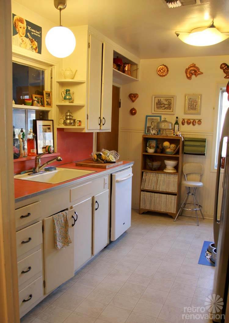 Old Kitchen Renovation Sarahs Super Economical Retro Kitchen Remodel Featuring