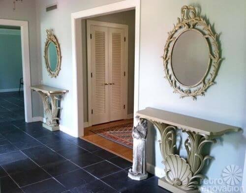 vintage-mirrors-entry-way