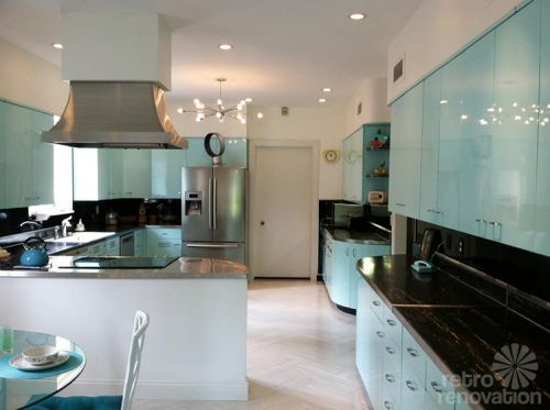 glamorous retro kitchen furniture | Robert and Caroline's mid century home with dreamy St ...