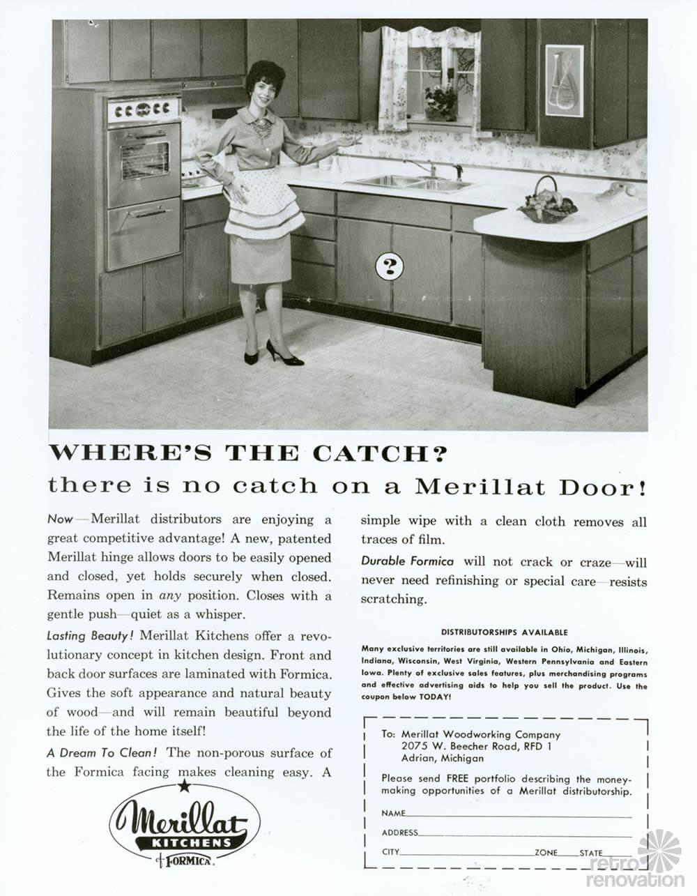 1946 Merillat Kitchen On Display At 2014 Kitchen And Bath Industry Show Kbis