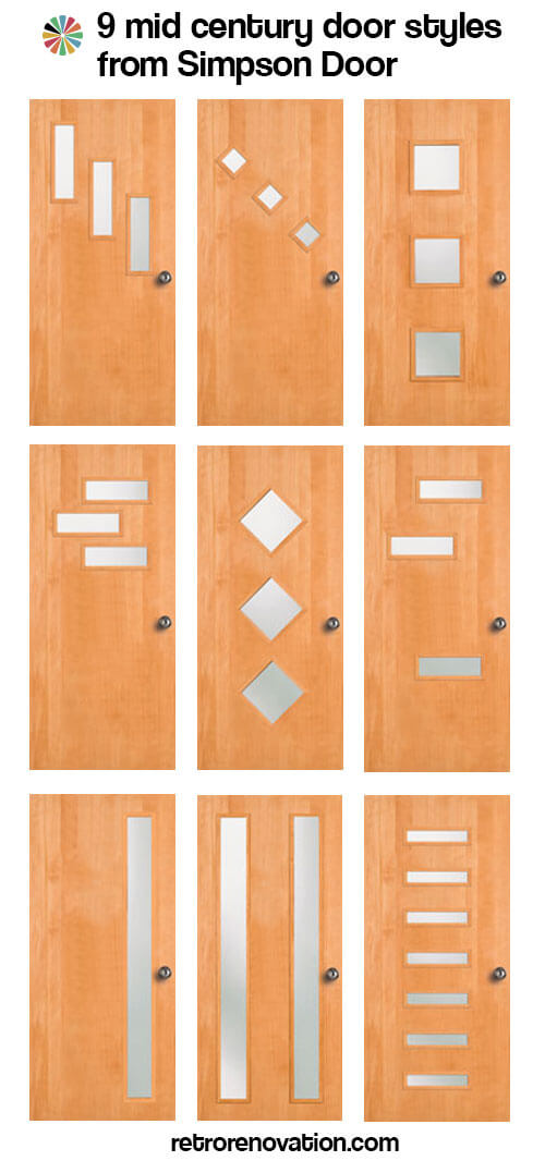 9 mid century modern exterior door styles from simpson for Front entry door styles