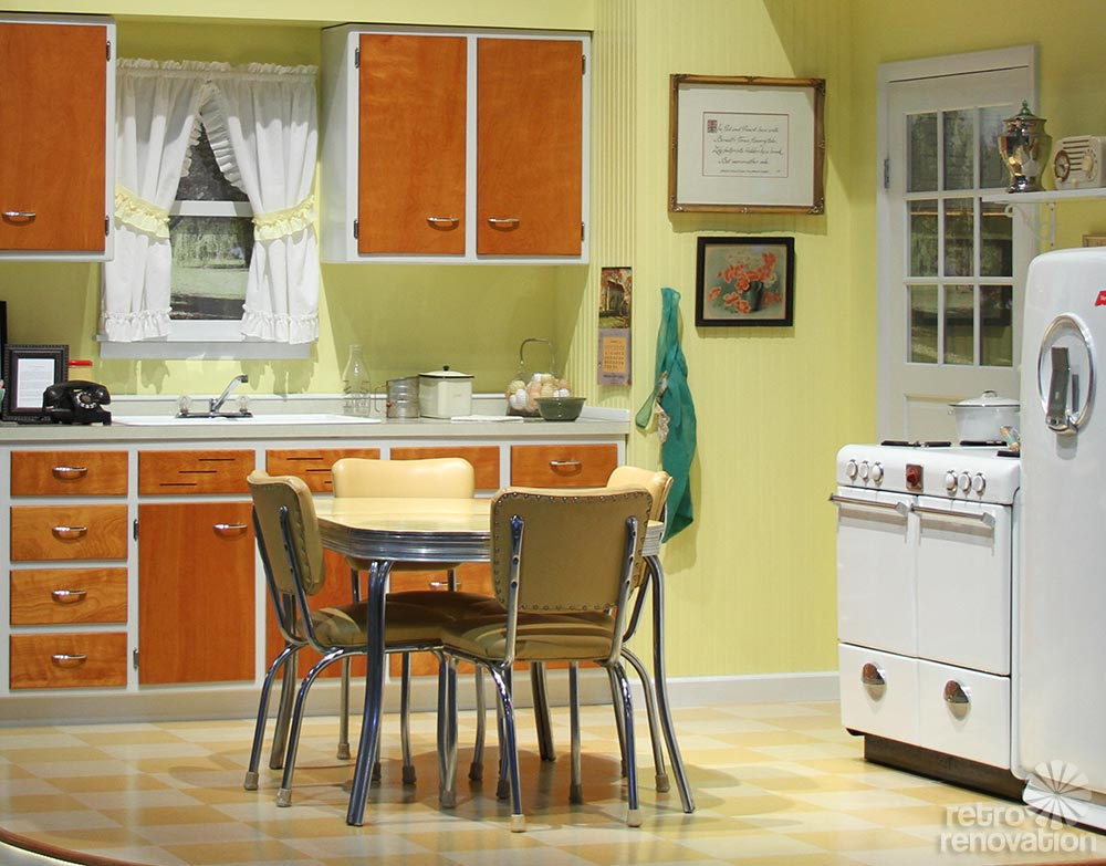 retro yellow kitchen 1946 merillat kitchen on display at 2014 kitchen and bath industry      rh   retrorenovation com