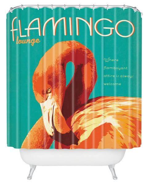 flamingo shower curtains