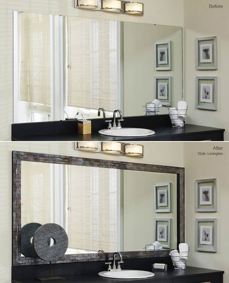 Bathroom Mirror Glass Replacement bathroom mirror frames - 2 easy-to-install sources + a diy