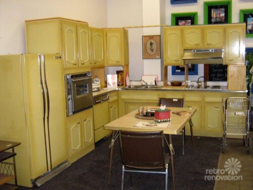 Never Used A 1960s Harvest Gold Kitchen For Sale In