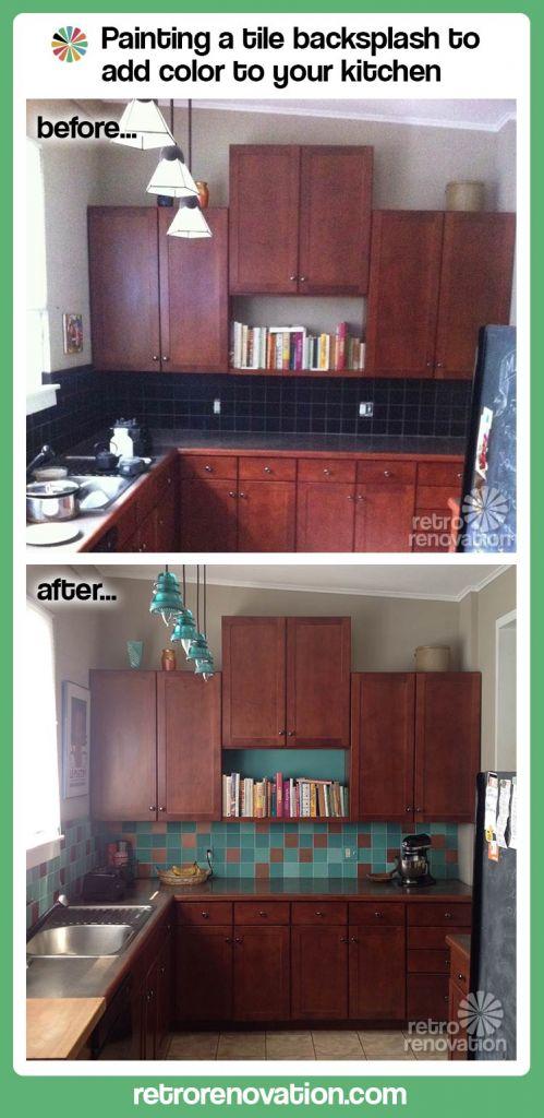kitchen backsplash-before-and-after