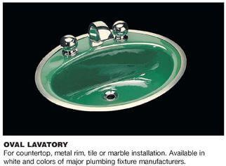 Lovely  metal rim bathroom sink spreads