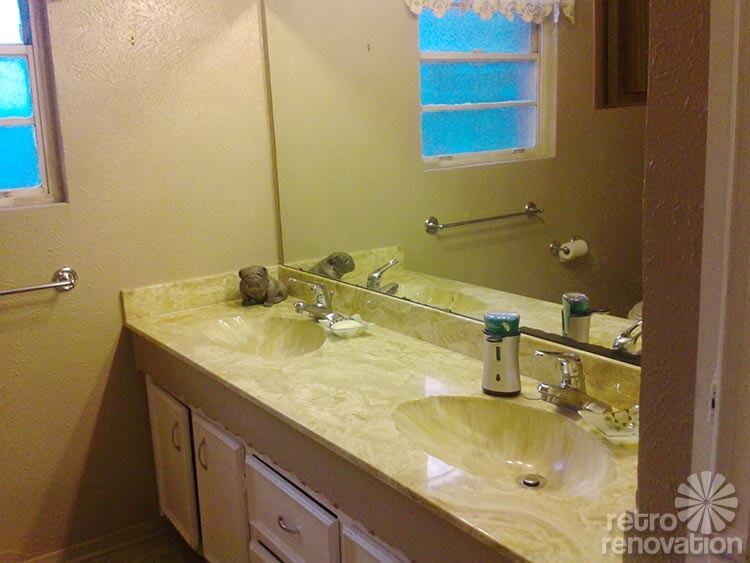 Perfect retro bathroom mid century bath vanity
