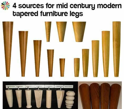 4 Sources For Mid Century Modern Furniture Legs Retro