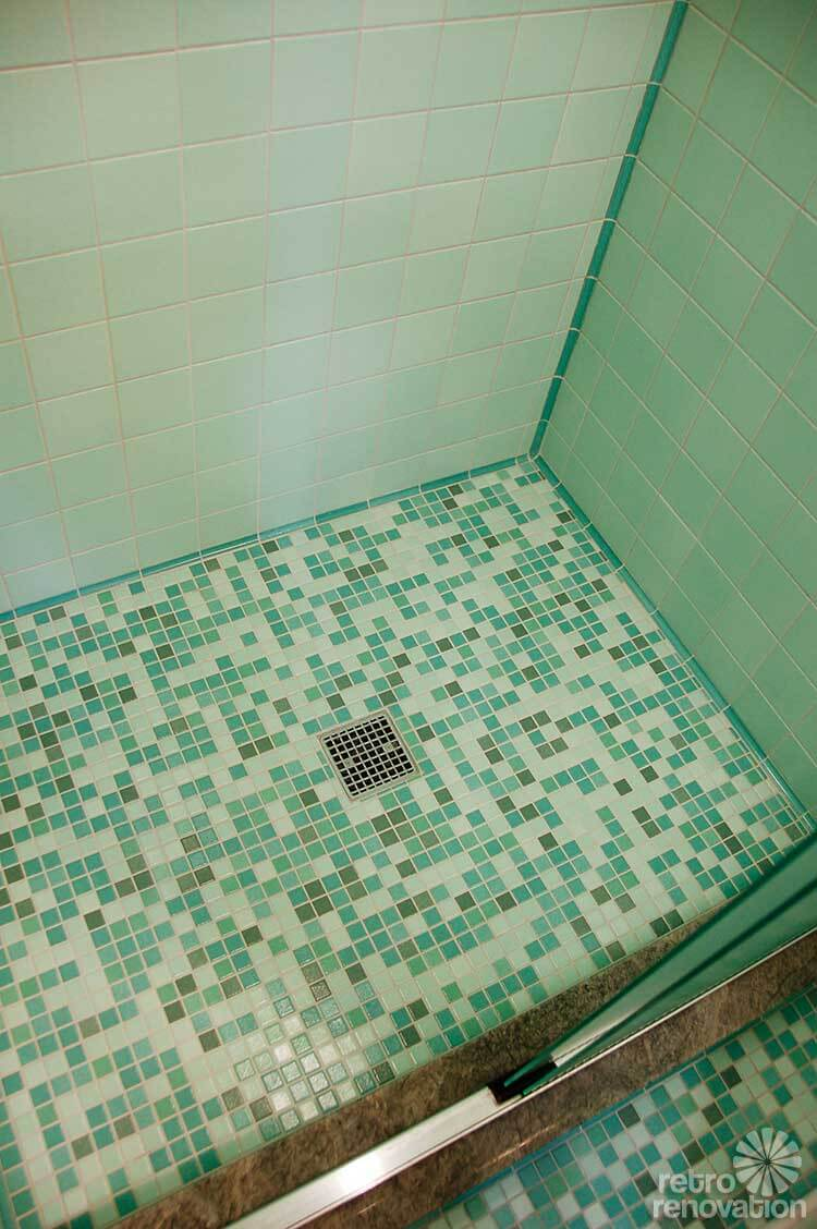Rebecca 39 s mid century bathroom remodel using nemo tiles Modern bathroom tile images