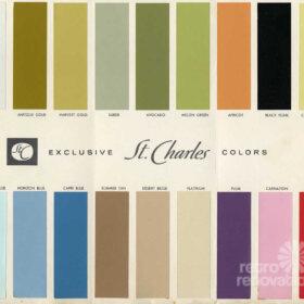 1960s kitchen cabinet colors
