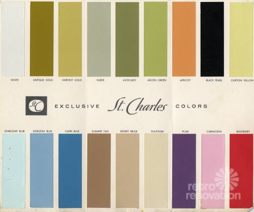 18 colors for 1960s st charles steel kitchen cabinets Kitchen cabinets colors 2014