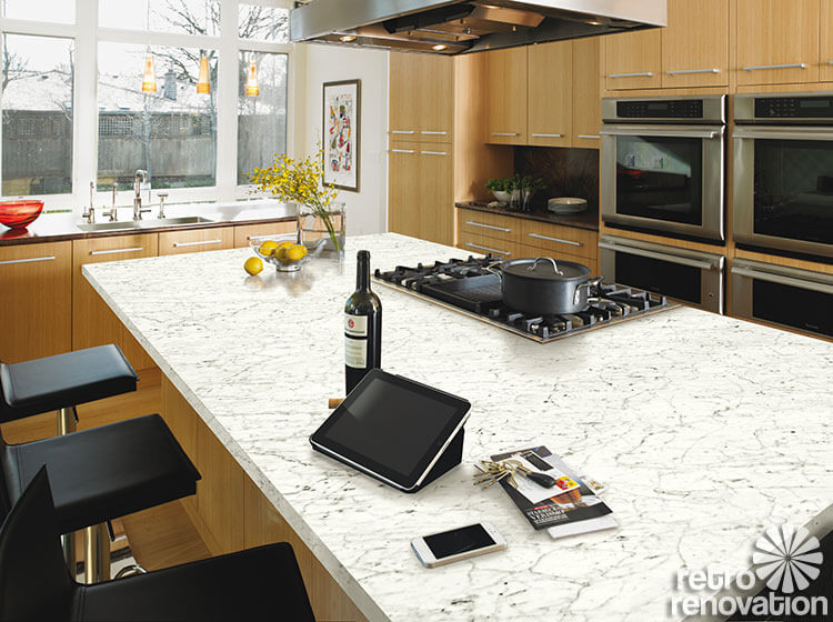 Carrara Marble Laminates U2013 4 Choices U2013 An Authentic Retro Choice