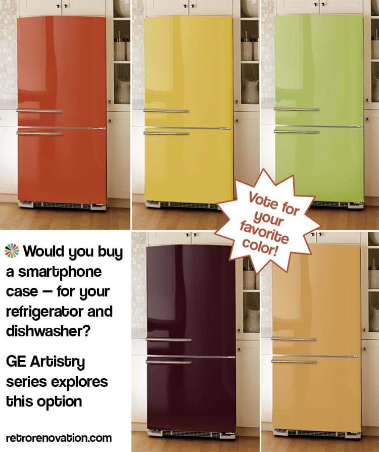 Breaking News + VOTE: GE Considers Colorful, Replaceable Panels For Its Newest  Appliance Series