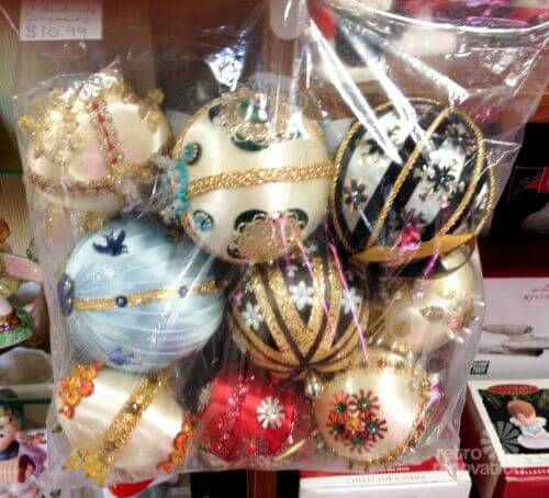 jewelled christmas ornaments
