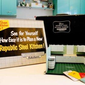 republic kitchen cabinets salesman display kit