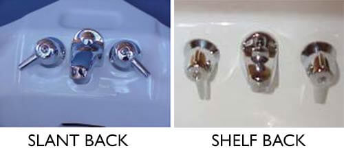 shelf back faucet