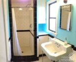 Dave and Fran's beautiful, functional black and white tile bathroom remodel — 1930s vintage style